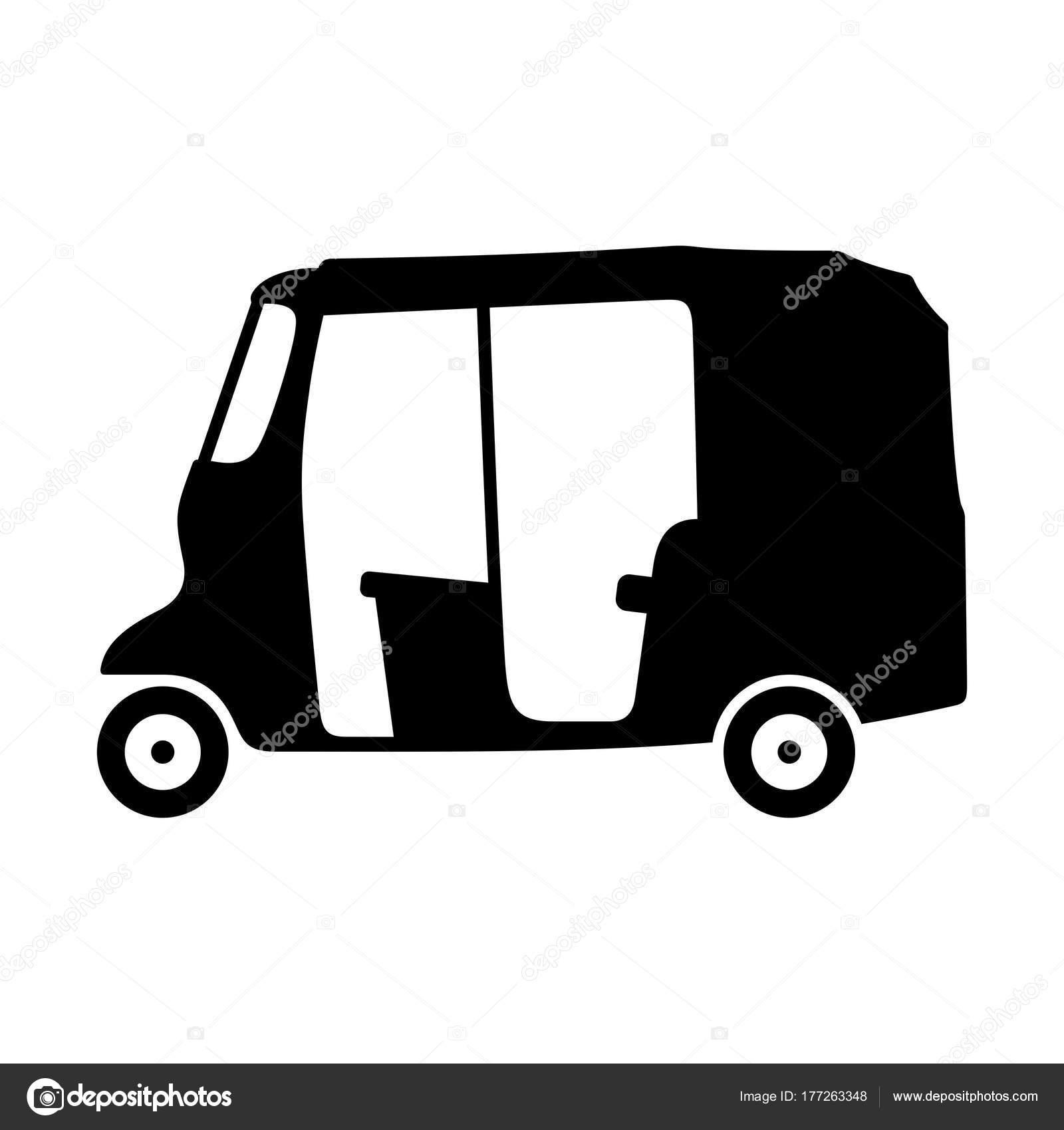 Auto Motor Rikscha Schatten Bild — Stockvektor © Den.Barbulat #177263348
