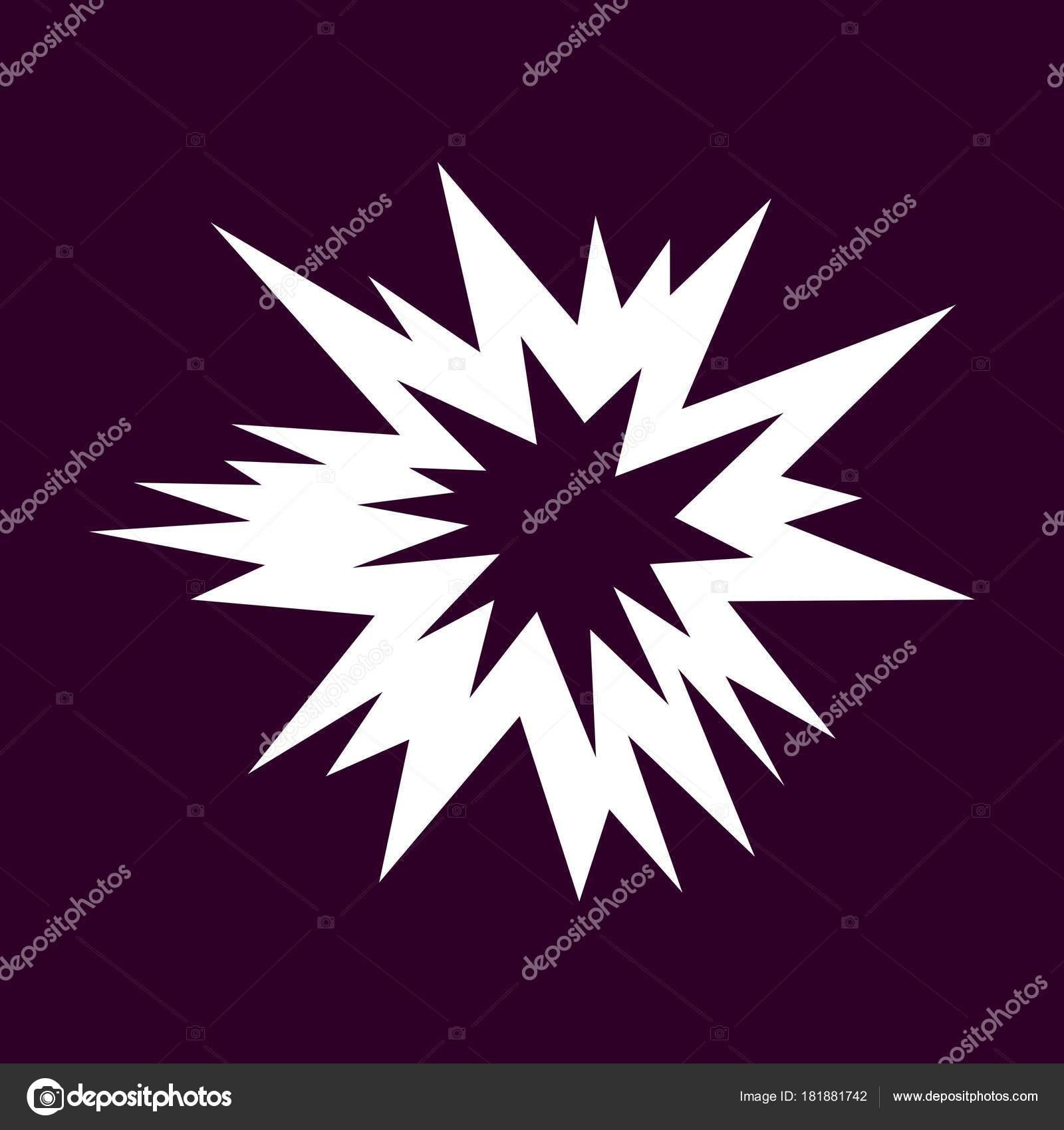 Explosion vector symbol black background stock vector den explosion vector symbol black background stock vector buycottarizona