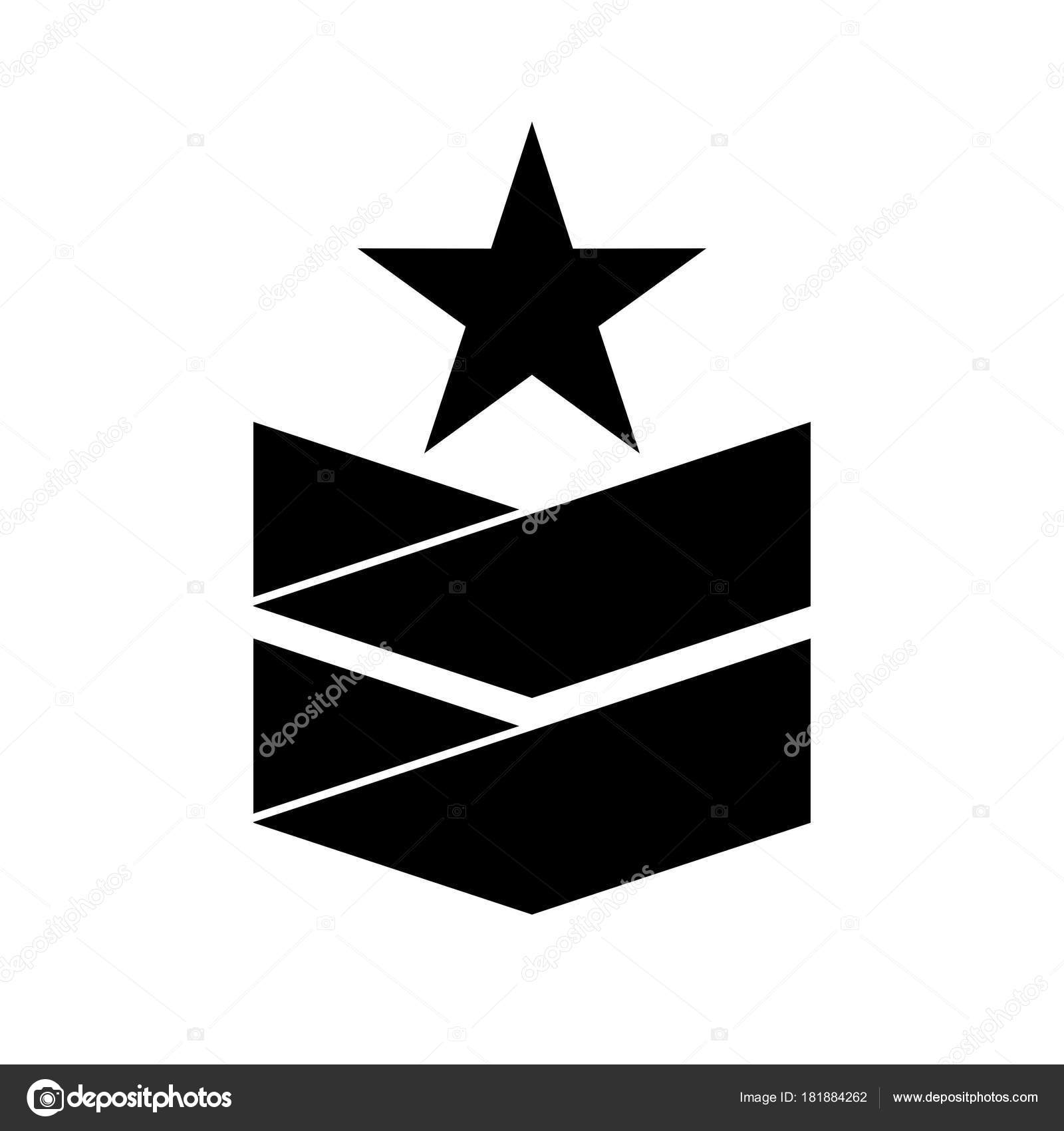 Military Rank Insignia Star Stock Vector Denrbulat 181884262
