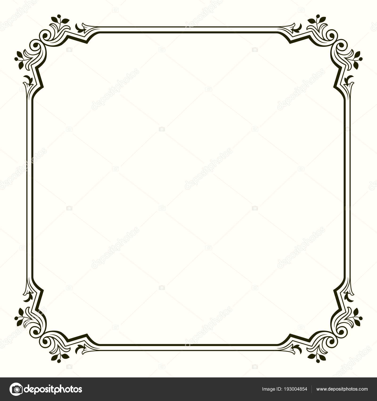Frame Decorative Corners Stock Vector Denbarbulat 193004854
