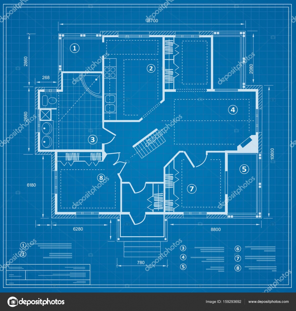 Blueprint house plan stock vector alexzel21 159293692 blueprint house plan drawing figure of the jotting sketch of the construction and the industrial skeleton of the structure with the plan and dimensions malvernweather Choice Image