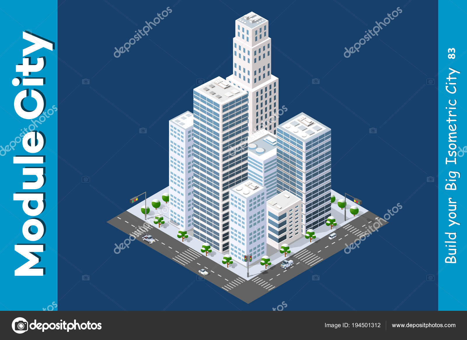 Isometric of the modern city — Stock Vector © alexzel21 #194501312