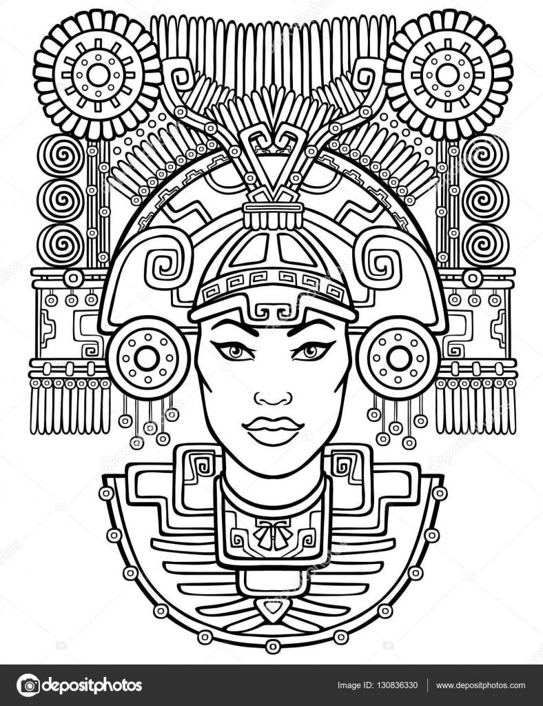 Dibujos Silueta De Indio Para Pintar Diosa Pagana Motivos Del