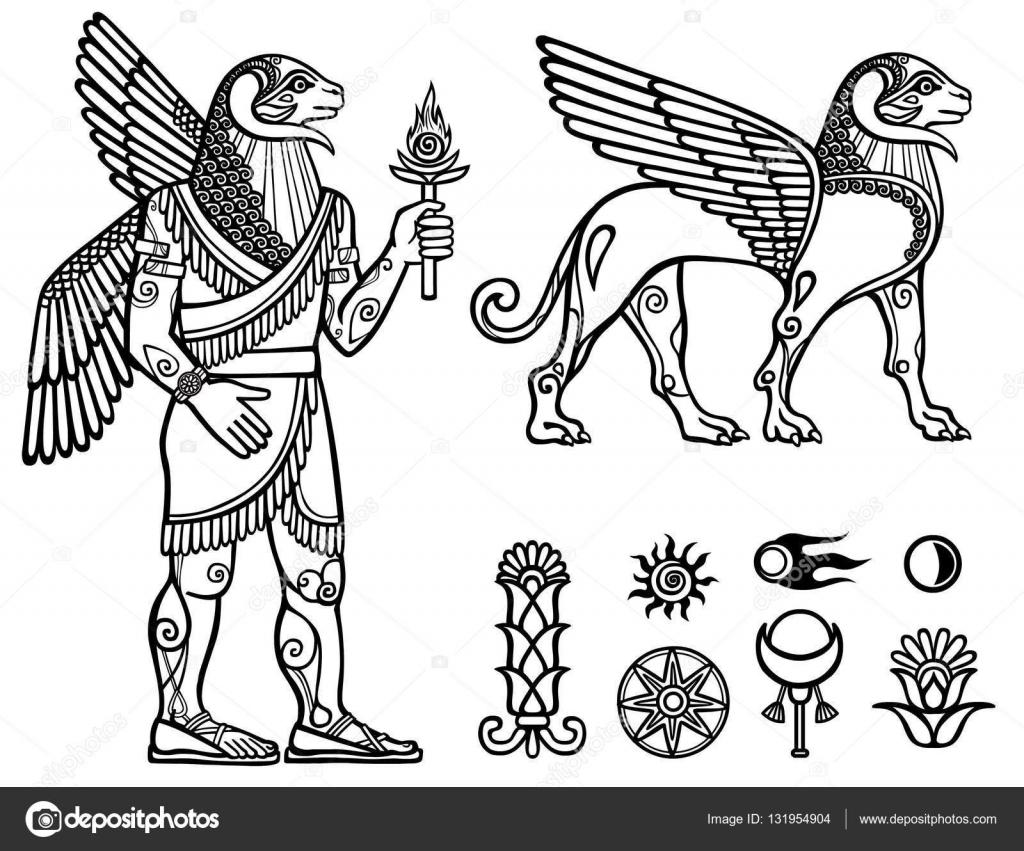 線形描画: 神話上の動物動物のイメージおよび人 (ケンタウロス) の