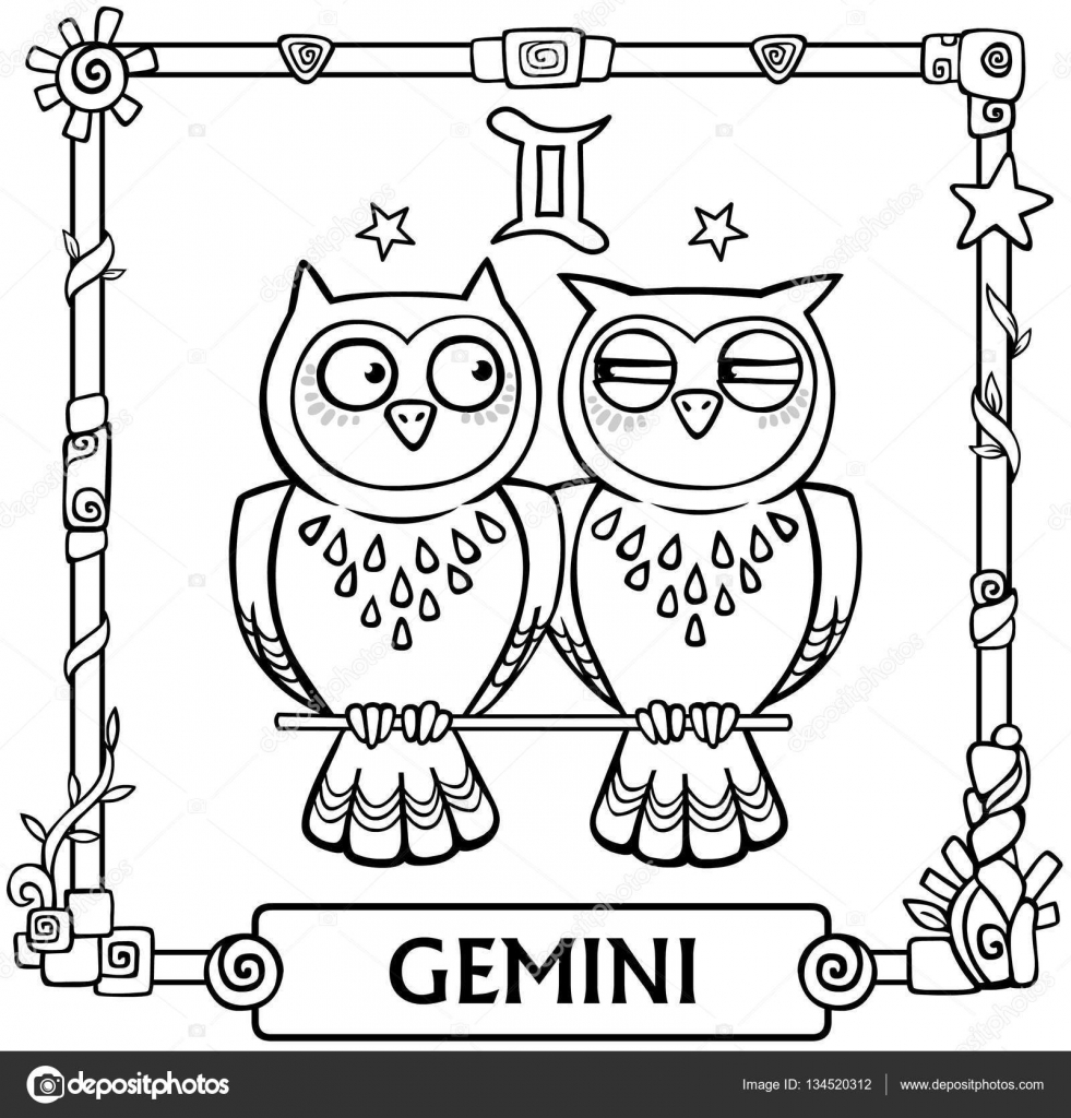 Zodiac sign gemini fantastic animation animal linear drawing zodiac sign gemini fantastic animation animal linear drawing vector illustration be used biocorpaavc Images