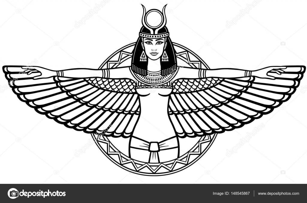 Dibujos: egipto antiguo | Retrato de la animación del egipcio ...