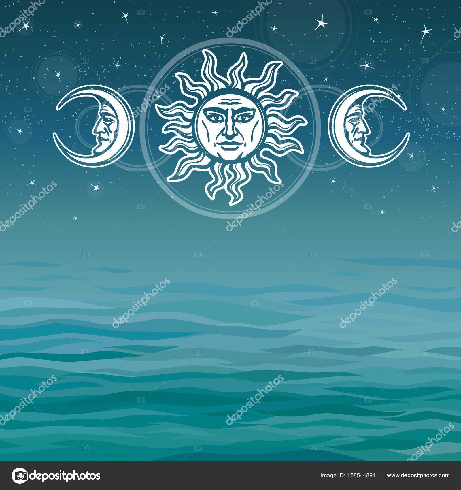 The image of the sun and the moon with human faces ancient symbols the image of the sun and the moon with human faces ancient symbols esoteric biocorpaavc Images