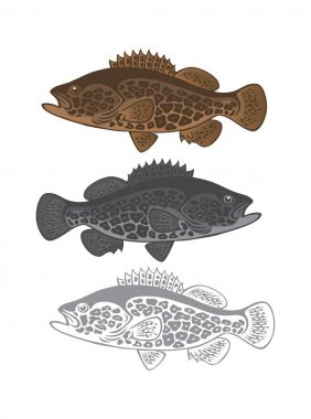 Bass fish for logo