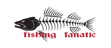 Fish skeleton for logo