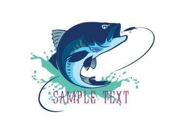 Bass fish for logo