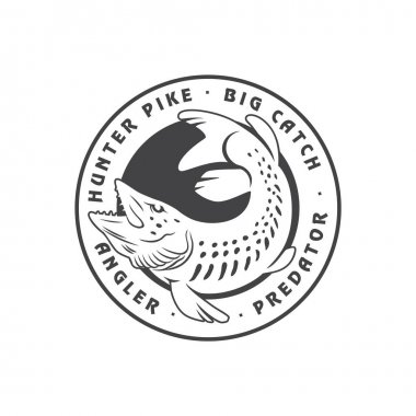 Pike fish for logo