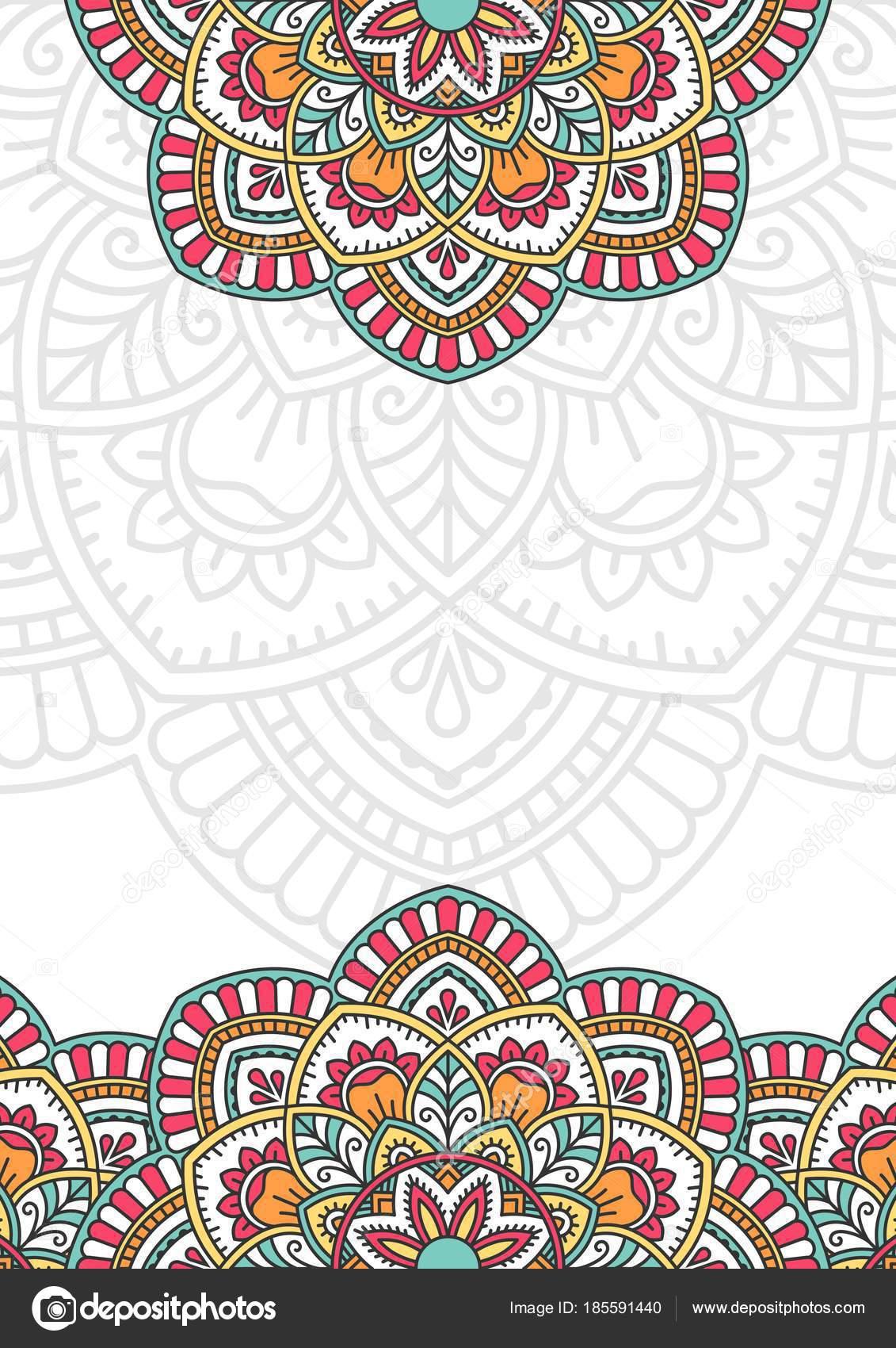 Tarjeta Invitacion Mandala Tarjeta De Invitación Con