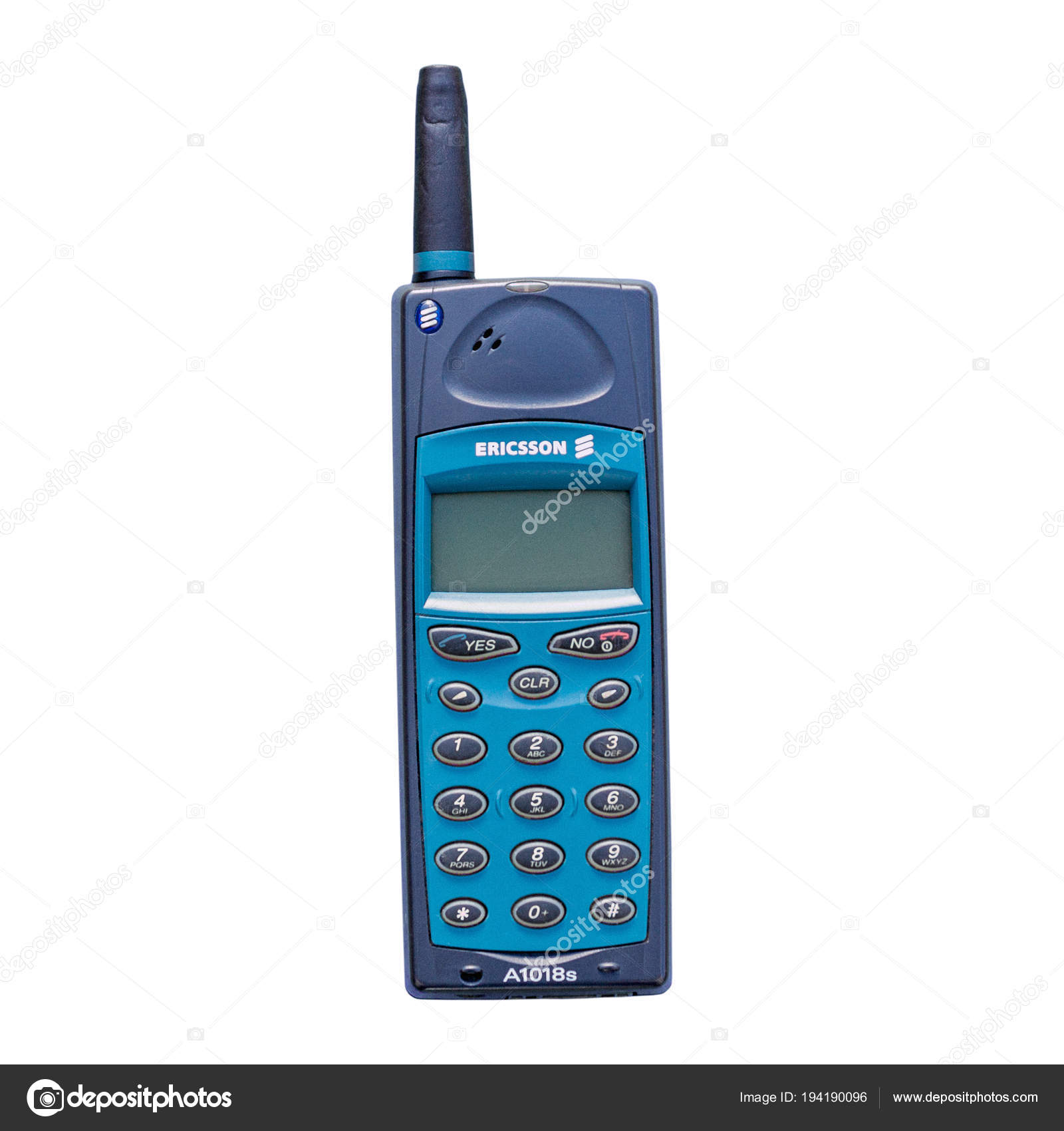 old vintage ericsson a1018s mobile phone stock editorial photo