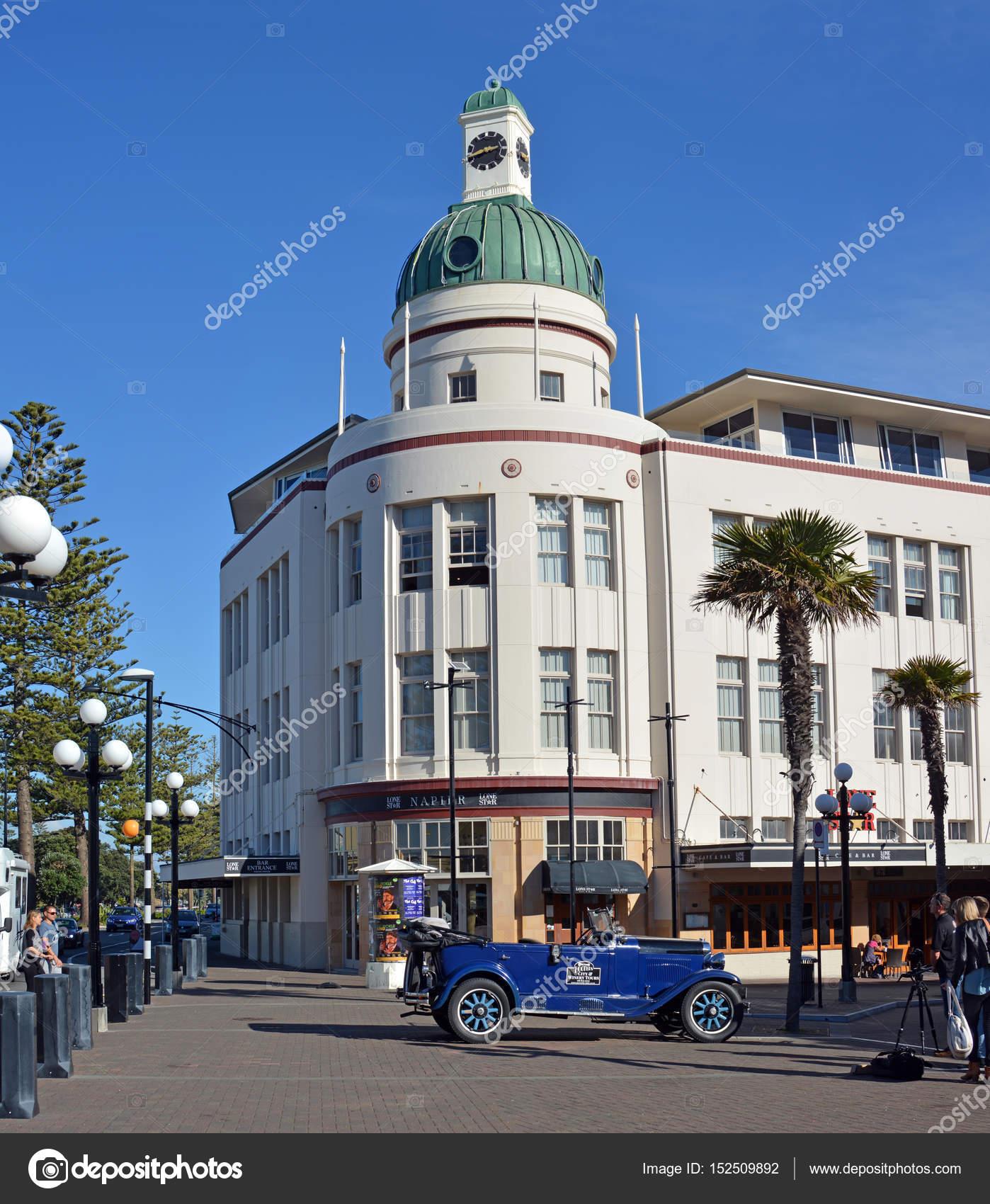 T G Gebouw Art Deco Napier Nieuw Zeeland Oldtimers