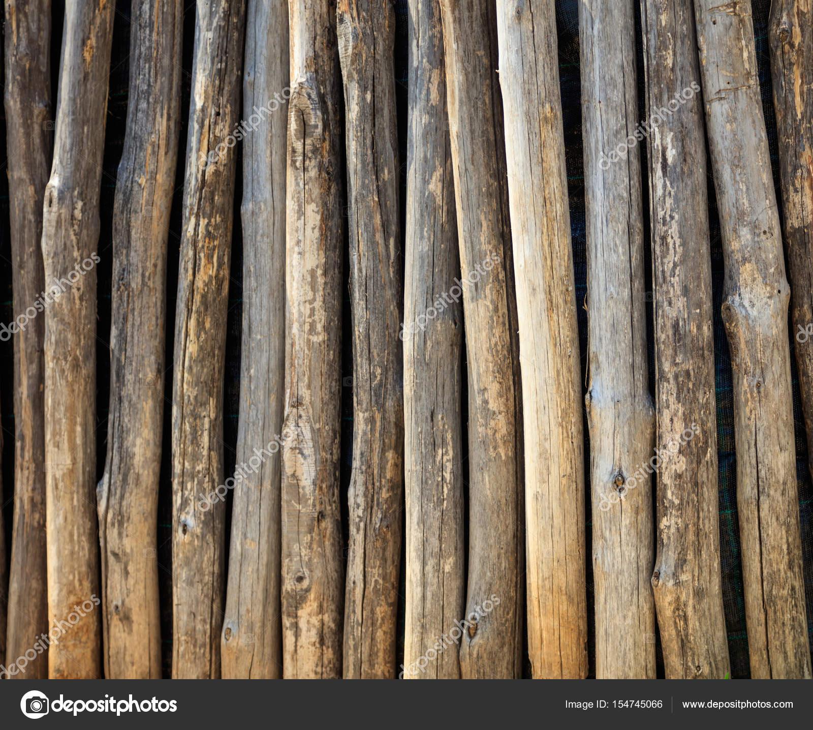Zaun Aus Holz Baumstamme Stockfoto C Viperagp 154745066