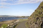 Footpath on Holy; Island; England