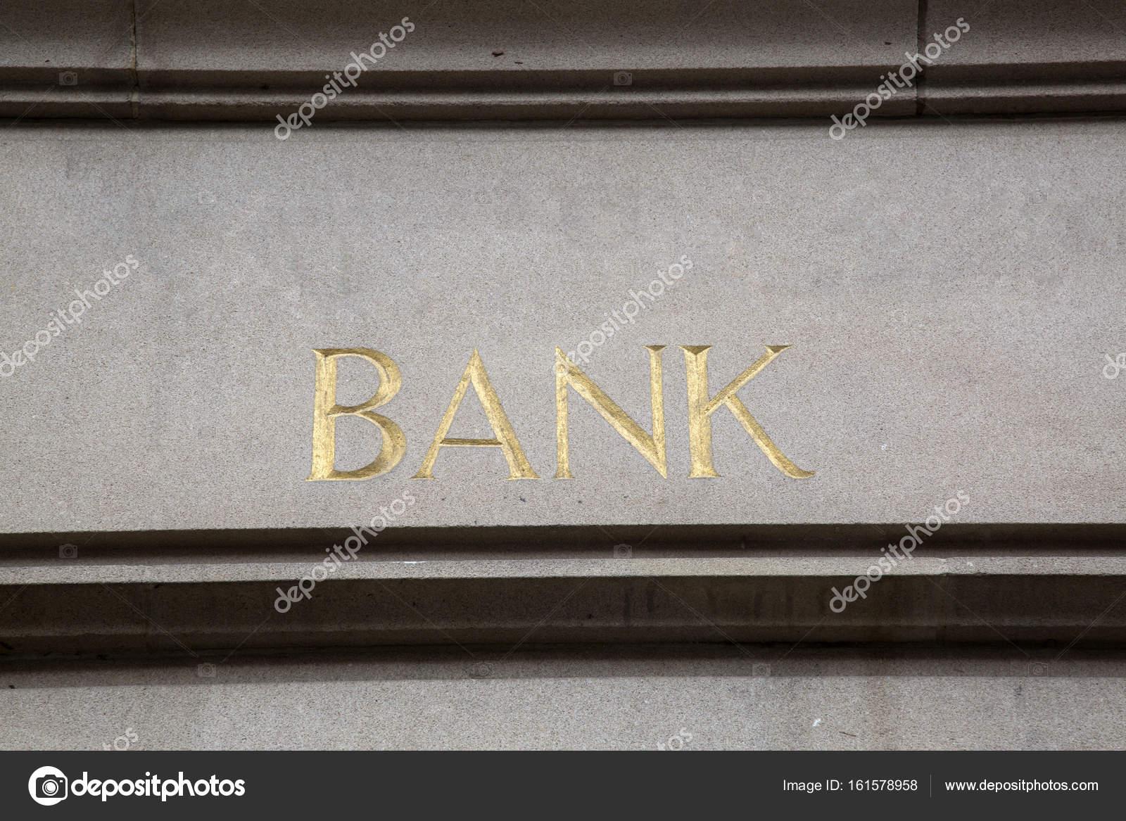 Gros plan de la bancaire signe — Photographie kevers ©  161578958 2d06c4e65b3