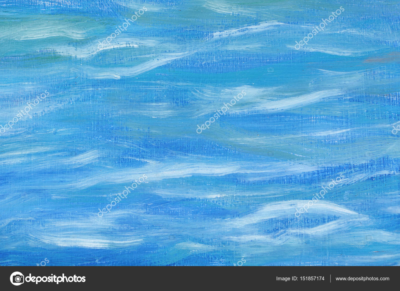 Beautiful abstract background. Oil painting, sea abstraction. Mixed blue and white ...