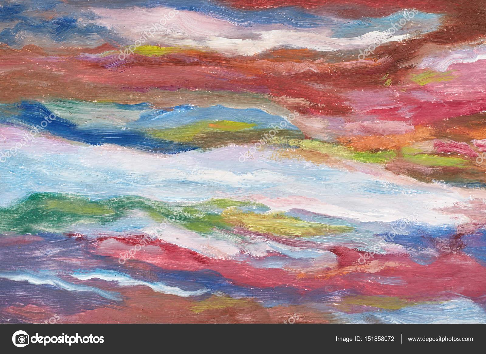Moderne Kunst Bilder Auf Leinwand ~ Ölgemälde auf leinwand kalte farbtöne elstriche farbe