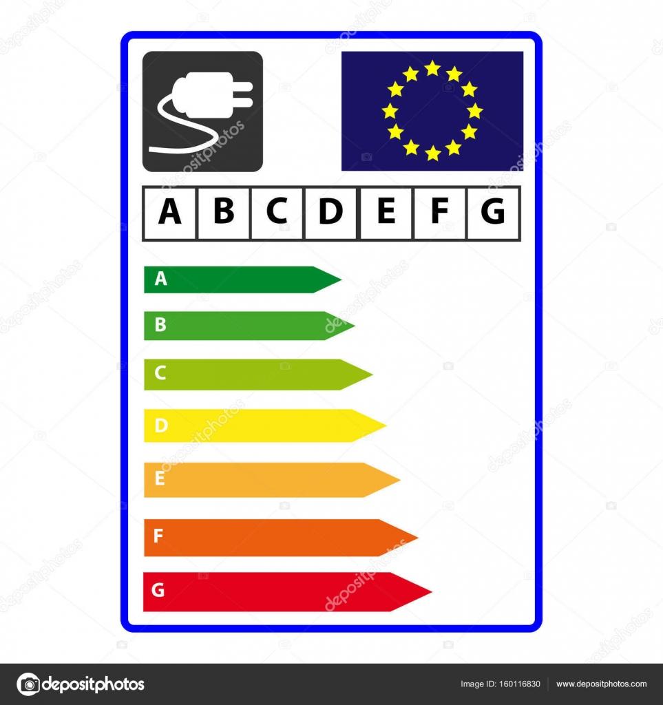 Hocheffiziente Energielabel isoliert auf weißem Hintergrund. Vektor ...