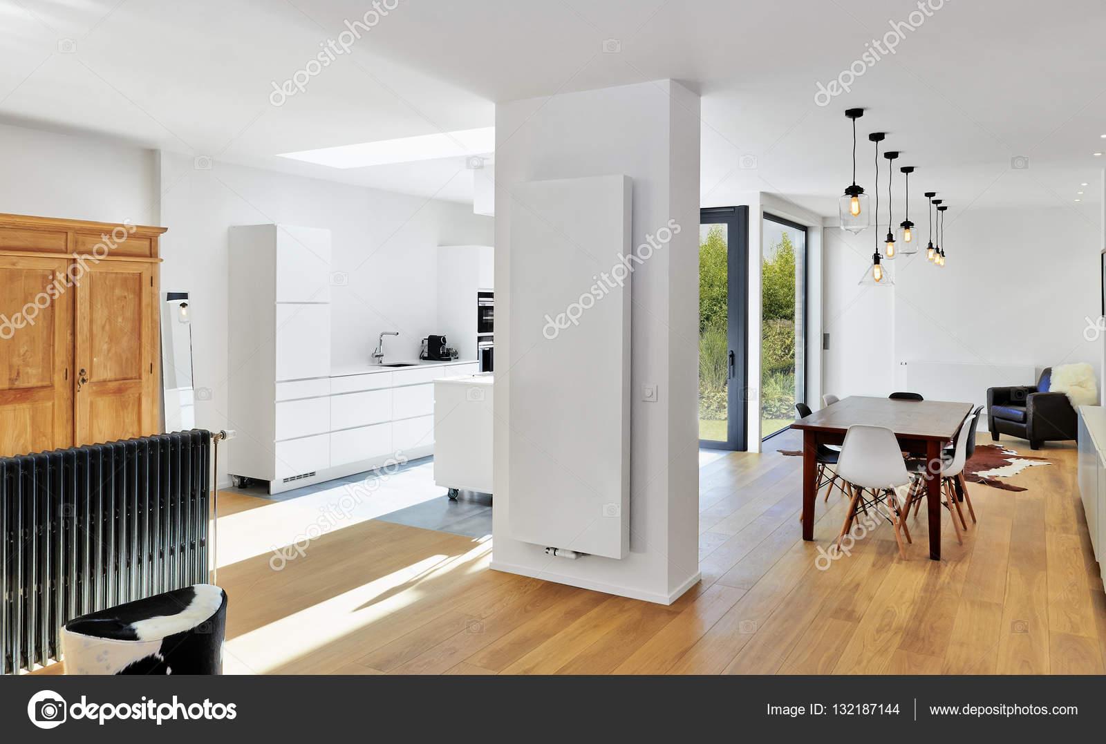 Attraktiv Moderne Luxus Wohnzimmer Und Küche U2014 Stockfoto