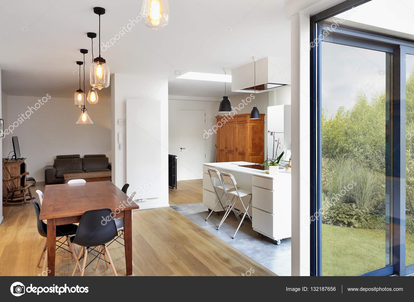 Moderne Luxus Wohnzimmer Und Küche U2014 Stockfoto