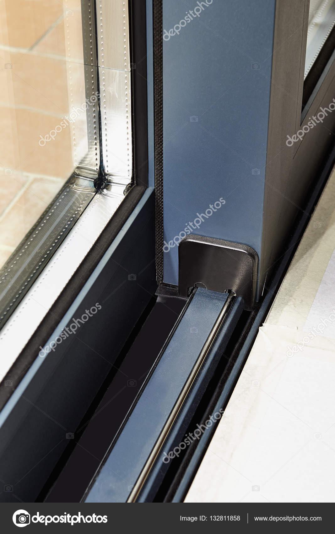 Sliding Glass Door Detail And Rail Embed Stock Photo Bombaert