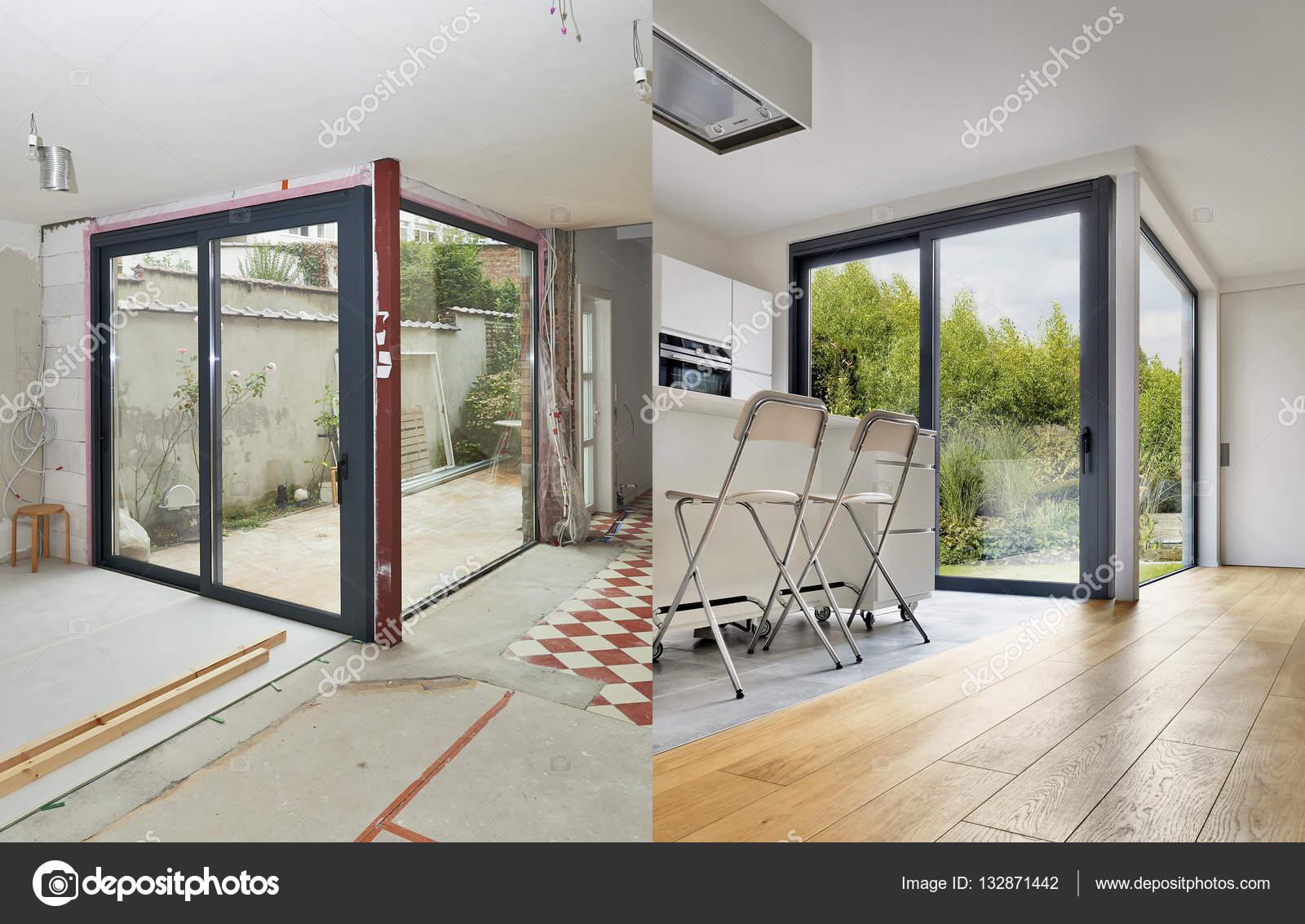 Renovatie van het interieur van een Modern appartement voor en na ...