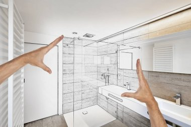 Planned renovation of a Luxury modern bathroom