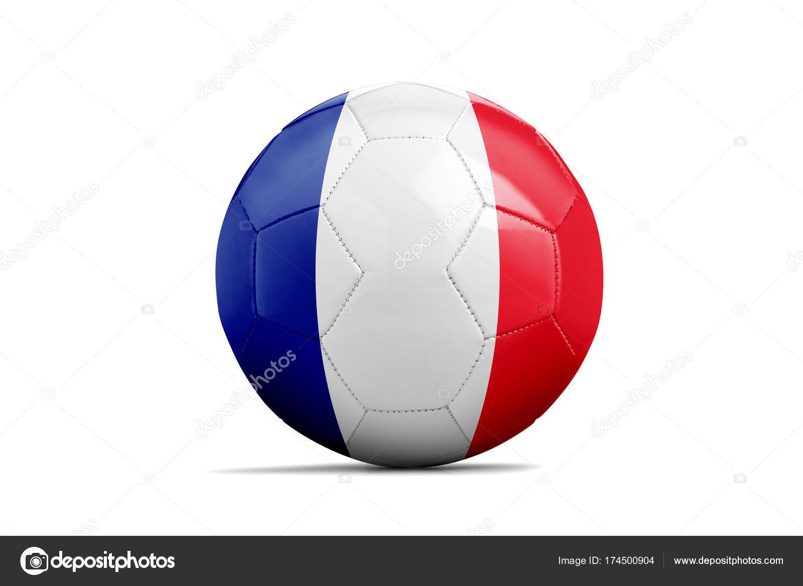 Футбольный мяч с командой флагом, Россия 2018. Франция — стоковое фото 6ee3f2884ee