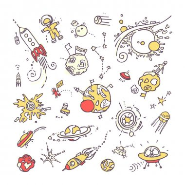 Space doodles. Collection