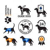 Fotografie Diensthunde und emotionale Stütztiere Embleme