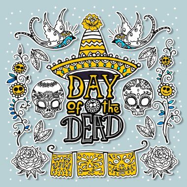 Day of the Dead design template