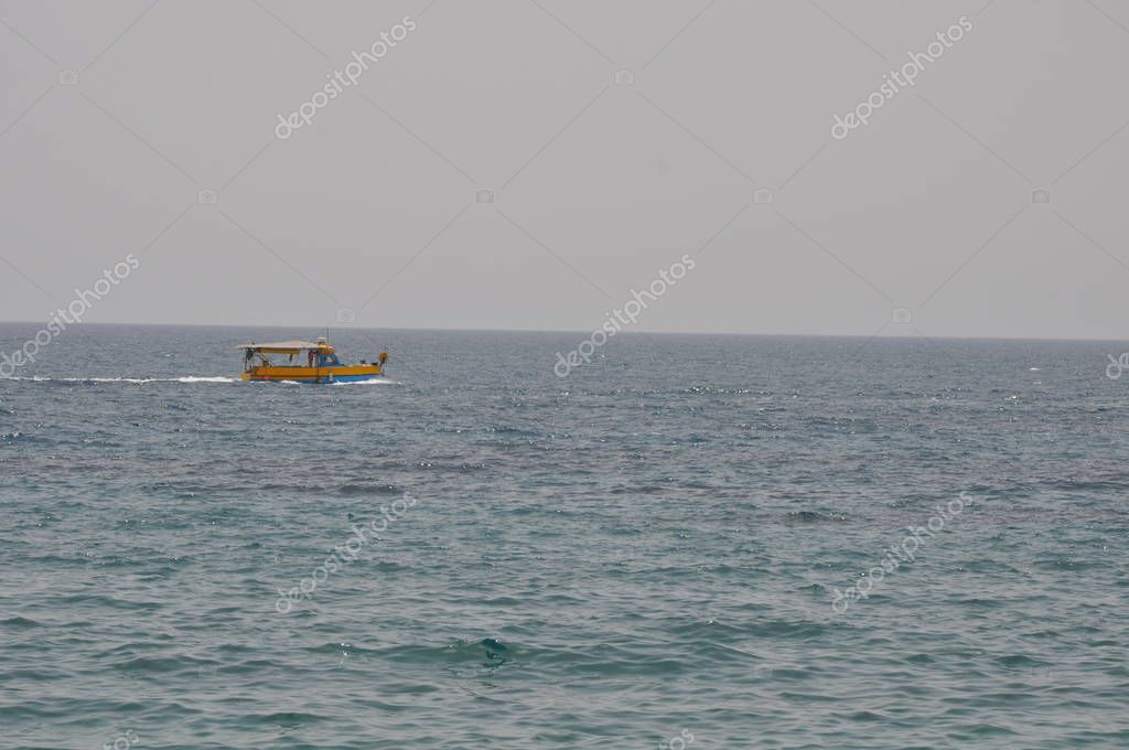 Ship at sea in Cyprus