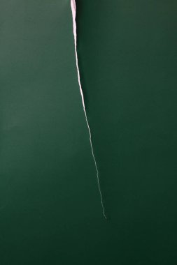 green torn paper