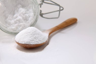 wooden spoon with baking soda