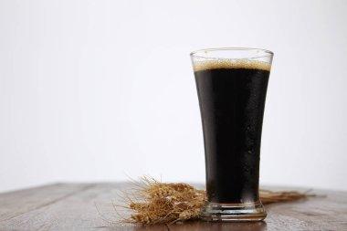 malt drink in glass