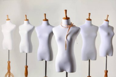 female mannequins in studio