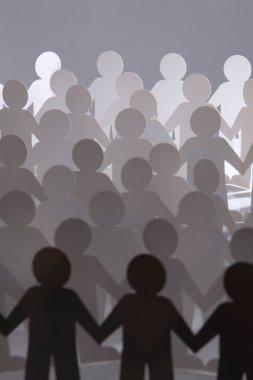 paper people figures rows