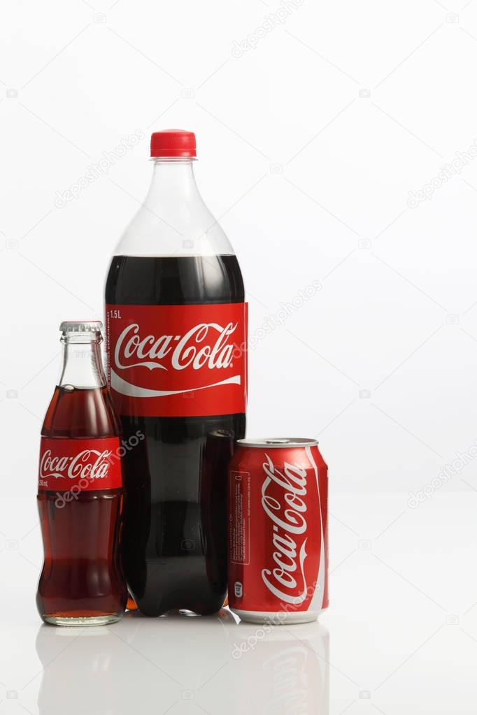 group of coca cola drinks