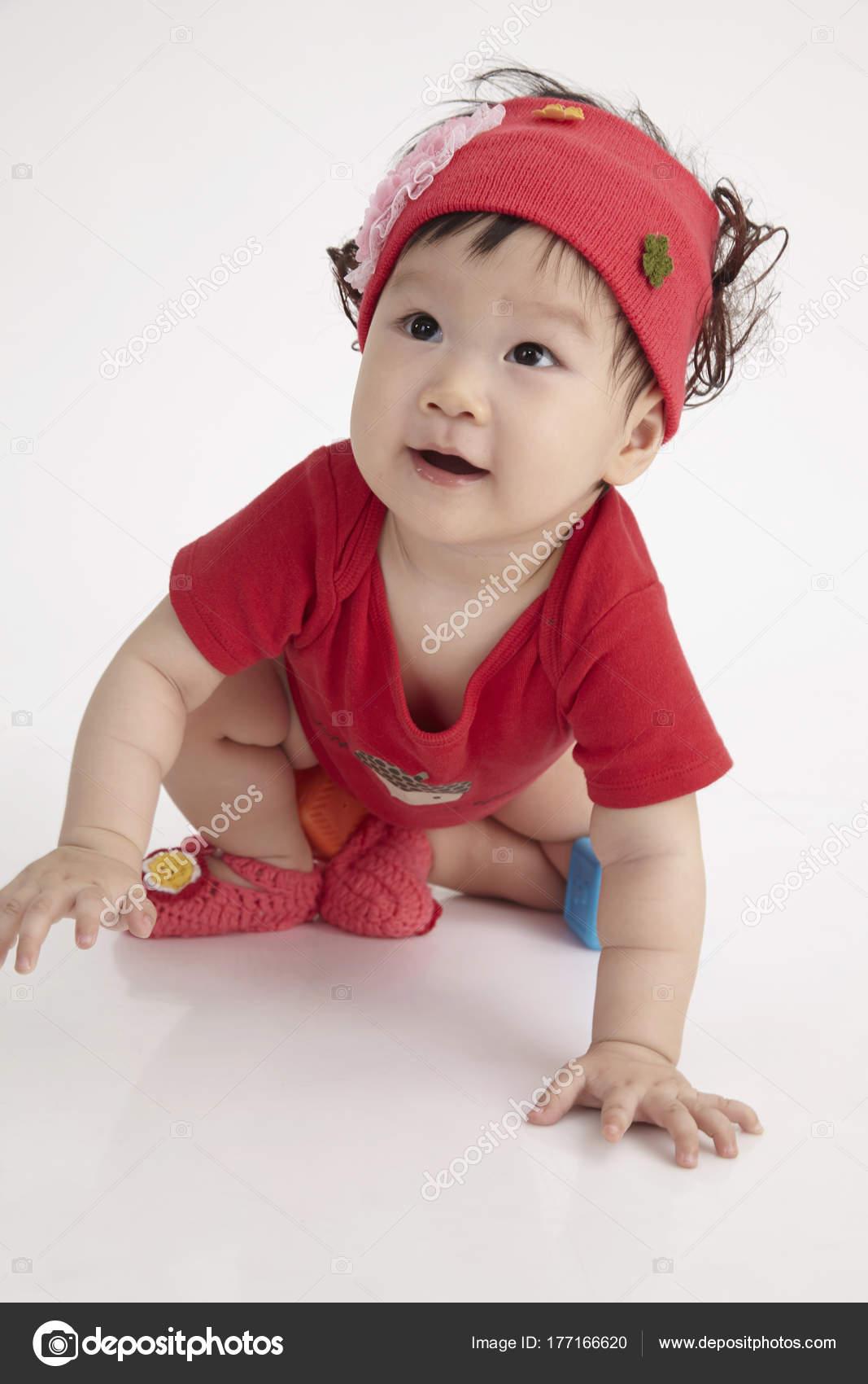 Close Chinese Baby Red Hair Band — Stock Photo © eskaylim  177166620 564bf505355