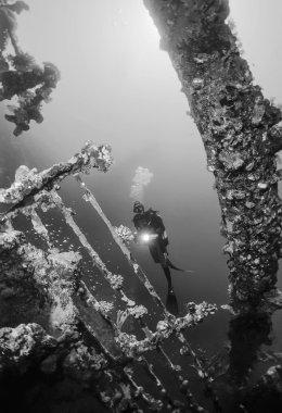 SUDAN, Red Sea, U.W. photo, wreck diving, Umbria wreck - FILM SCAN