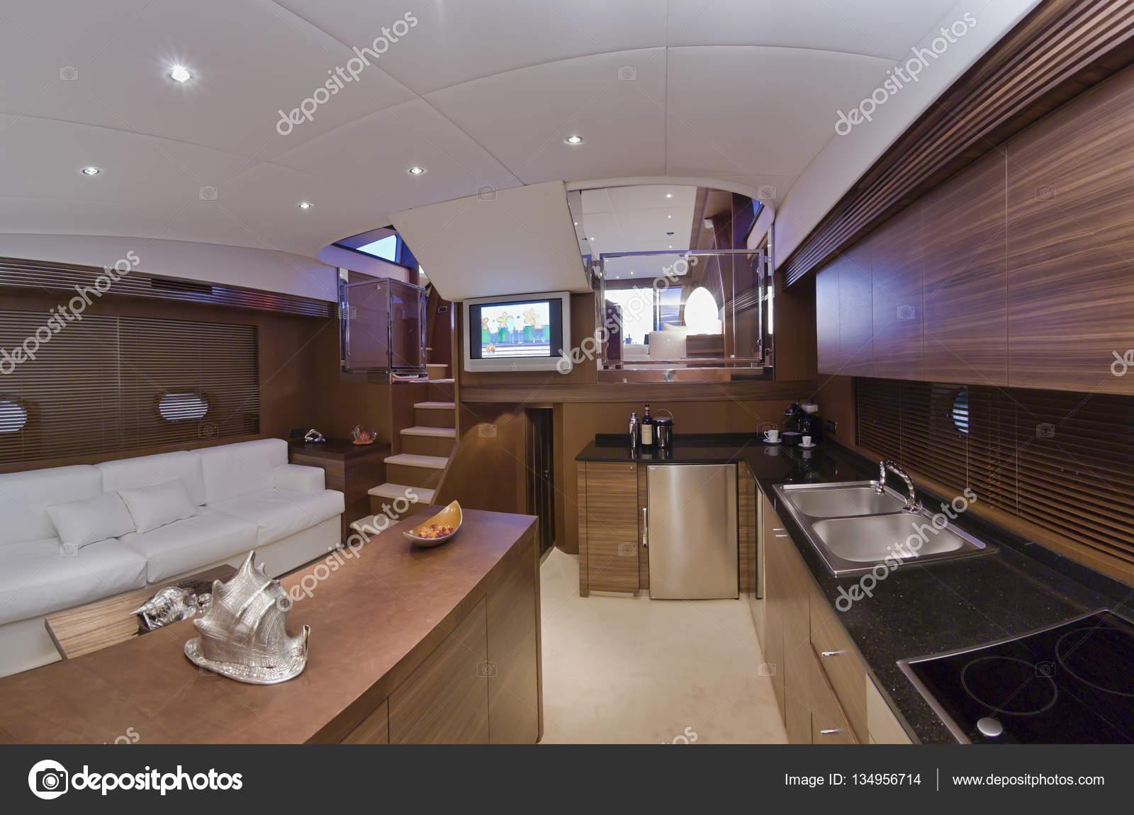 Italien Toskana Viareggio 83 Luxus Yacht Essecke Kuche