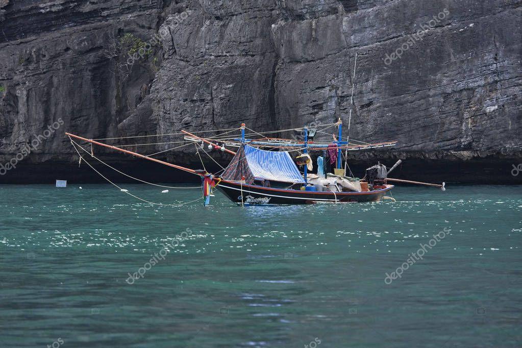 Thailand, Koh Samui (Samui Island); 6 March 2007, local wooden fishing boat - EDITORIAL