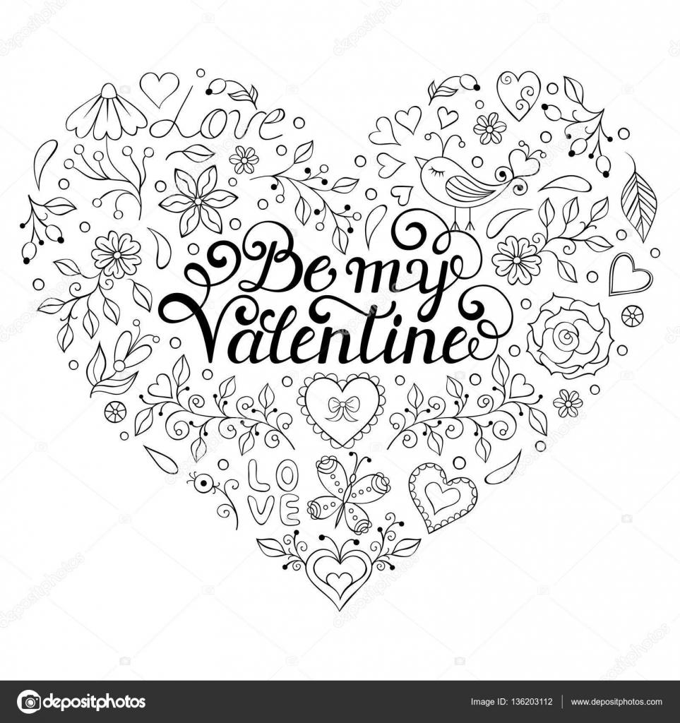 Elegant Valentijn Kleurplaten Hartjes Wallpaperzen Org