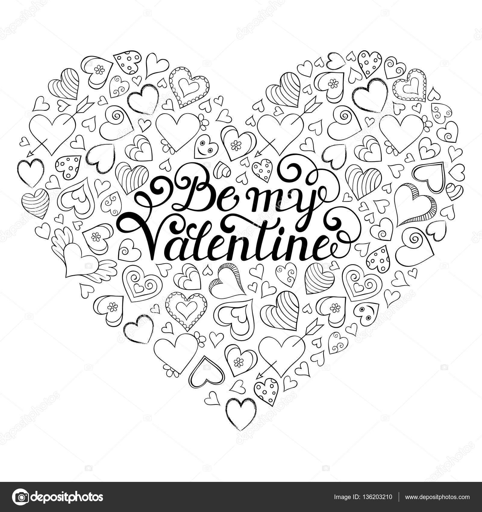 Valentinstag-Karte mit Herzen — Stockvektor © kiyanochka #136203210