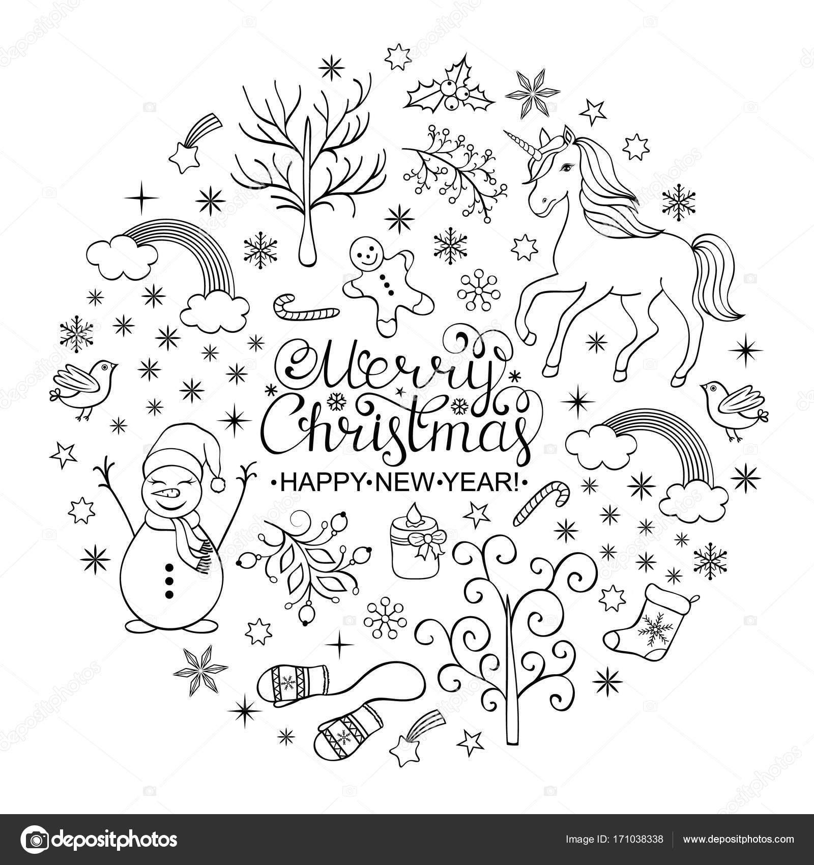 positieve kerstkaart stockvector 169 kiyanochka 171038338