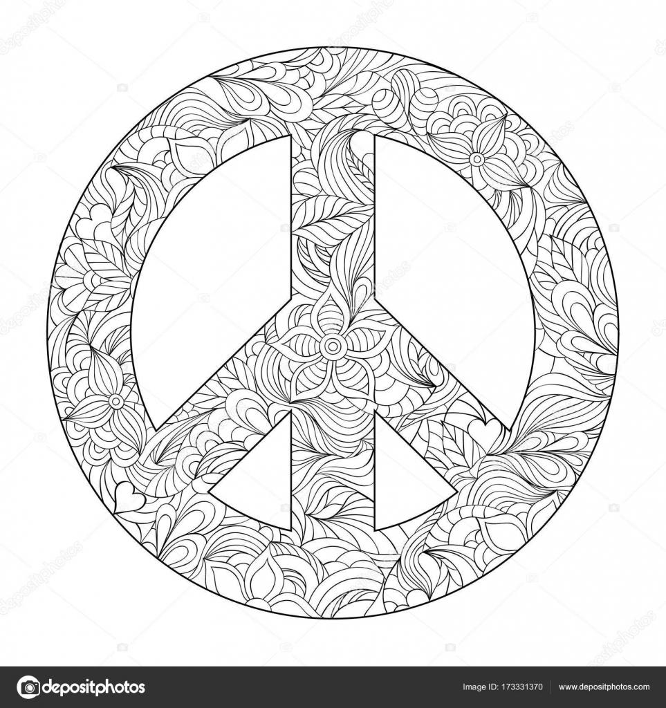 Simbolo Di Pace Floreale Vettoriali Stock Kiyanochka 173331370