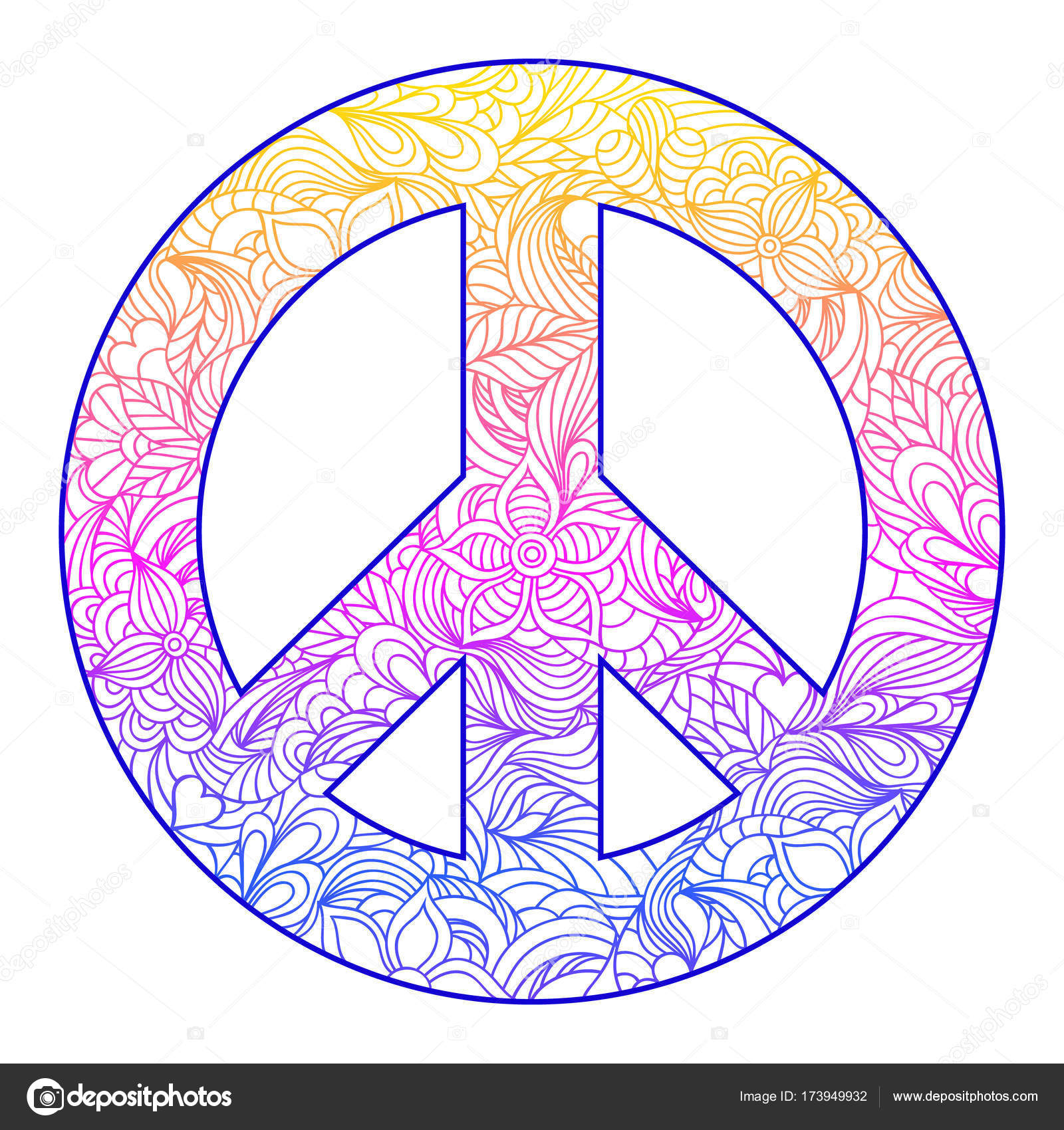 imágenes del simbolo dela paz símbolo de la paz flores vector