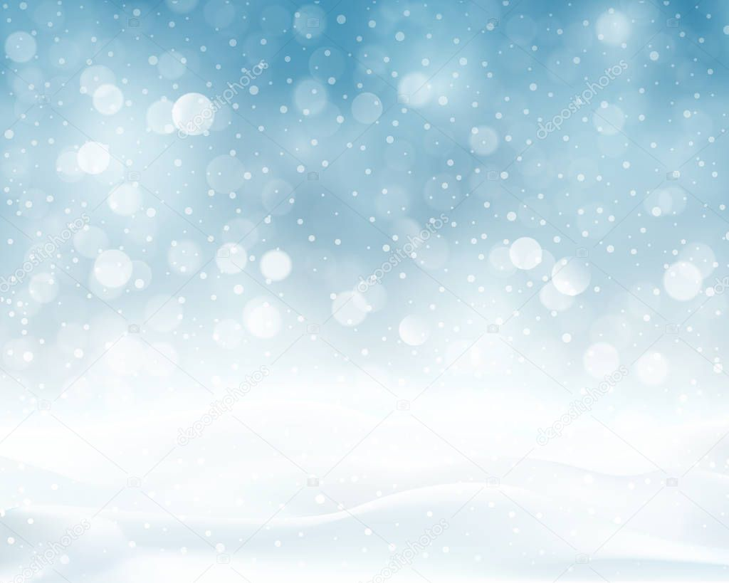 silver blue sparkling christmas winter background � stock